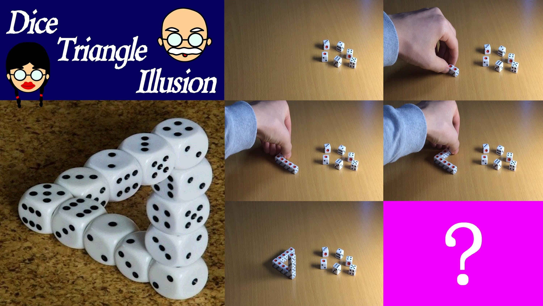 Drawn optical illusion dice YouTube Illusion Make Dice Triangle