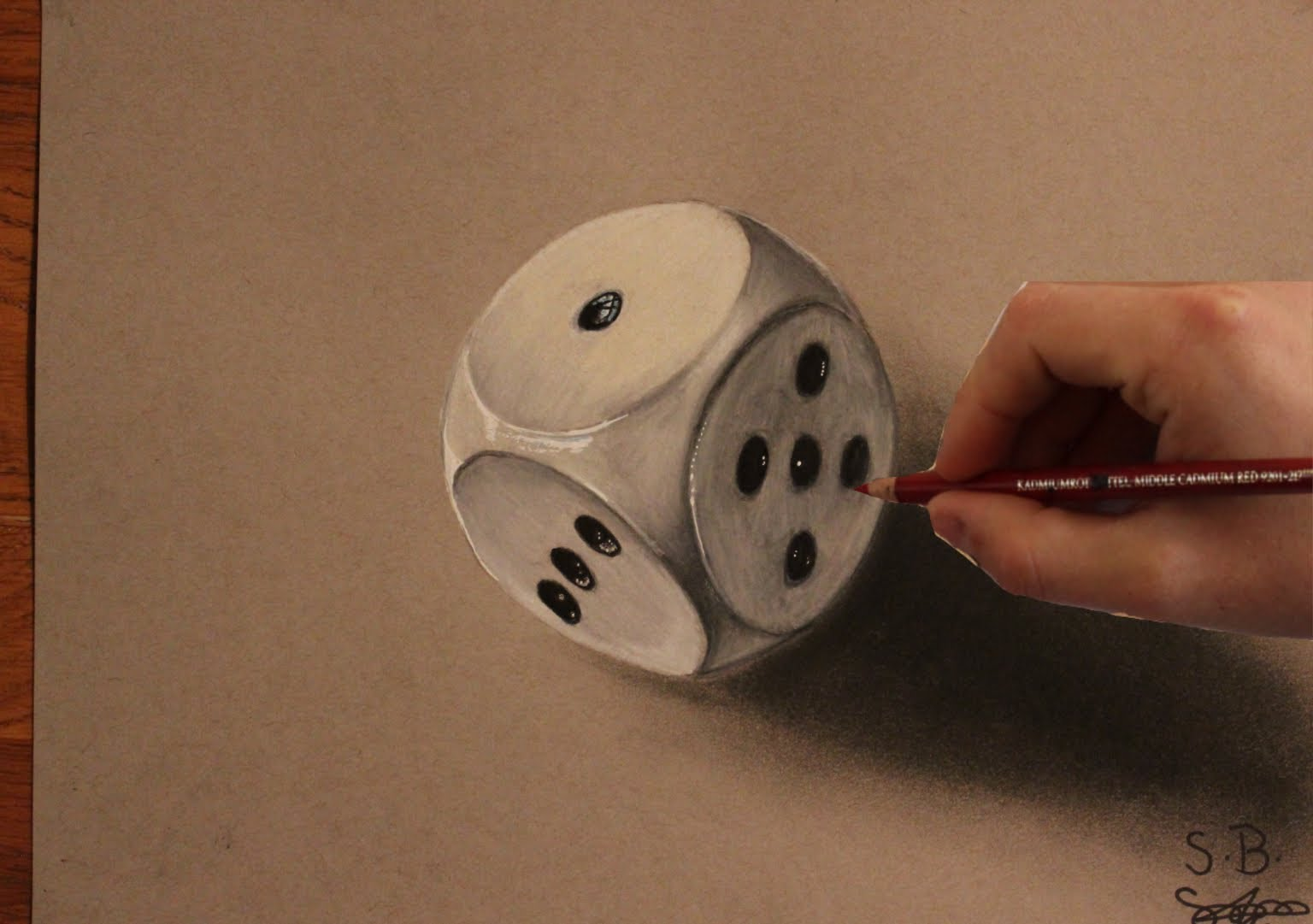 Drawn optical illusion dice Drawing 3D YouTube  A