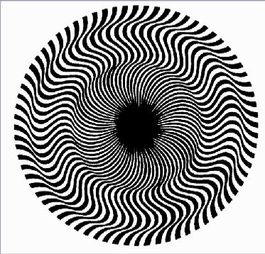 Drawn optical illusion distortion Over a lay index of