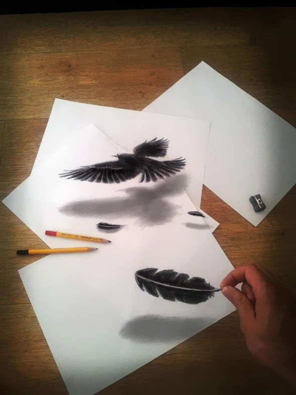 Drawn optical illusion drawable 3D Page Off That Drawings