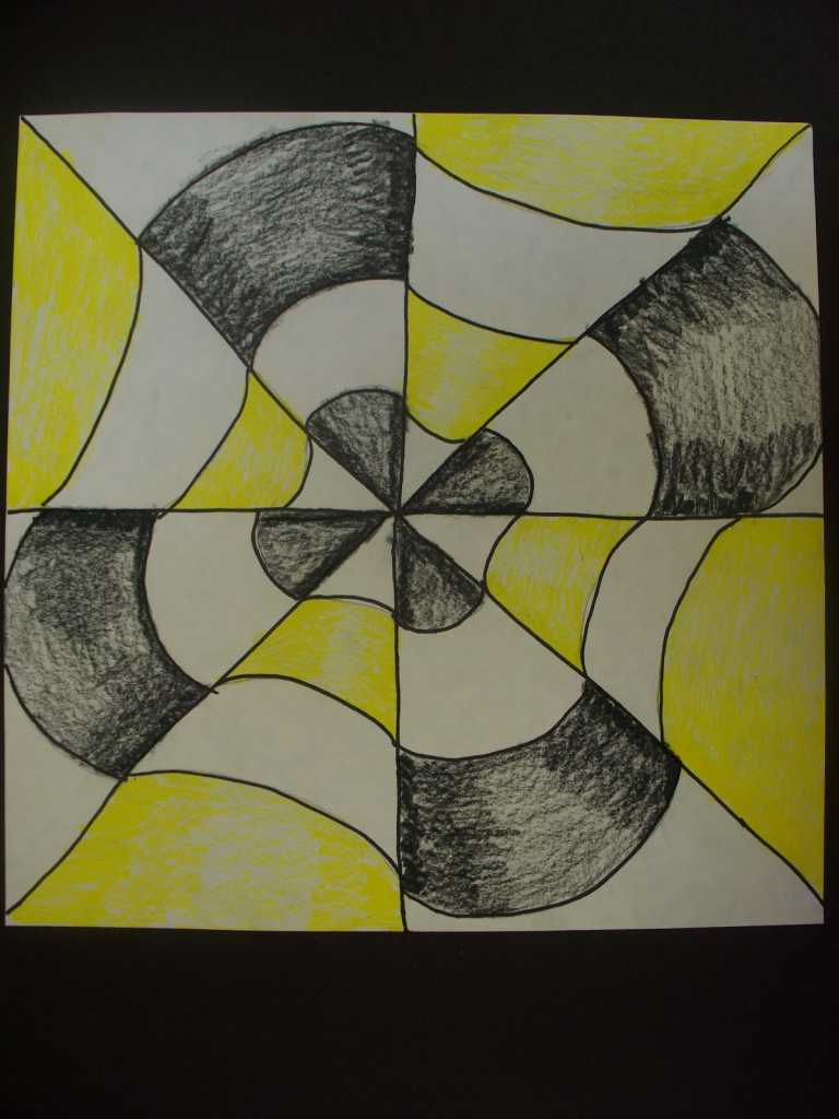 Drawn optical illusion easy draw On Optical Art Drawing Paper