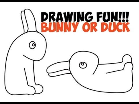 Drawn optical illusion easy draw Or Rabbit Rabbit Bunny Drawing