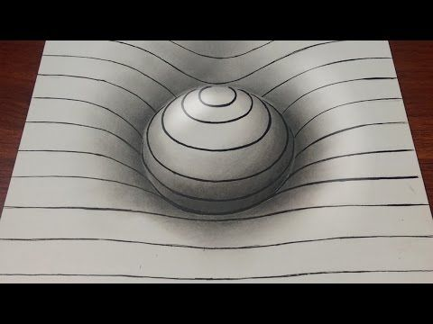 Drawn optical illusion easy draw With YouTube Optical lines on