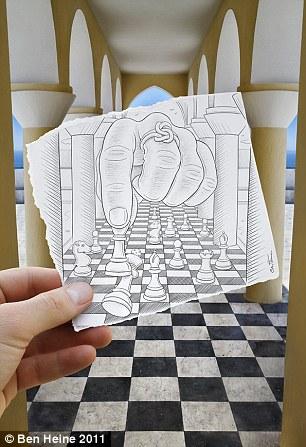 Drawn optical illusion eye trick Ben  illusion Do takes