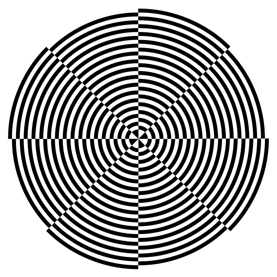 Drawn bus optical illusion #1