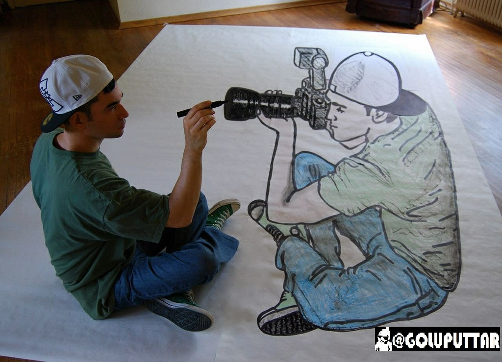 Drawn zodiac optical illusion #8