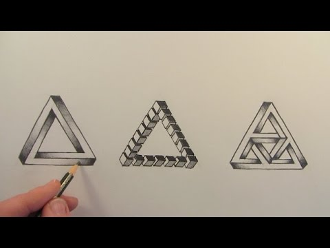 Drawn optical illusion figure drawing Hexagon YouTube Hexagon Impossible