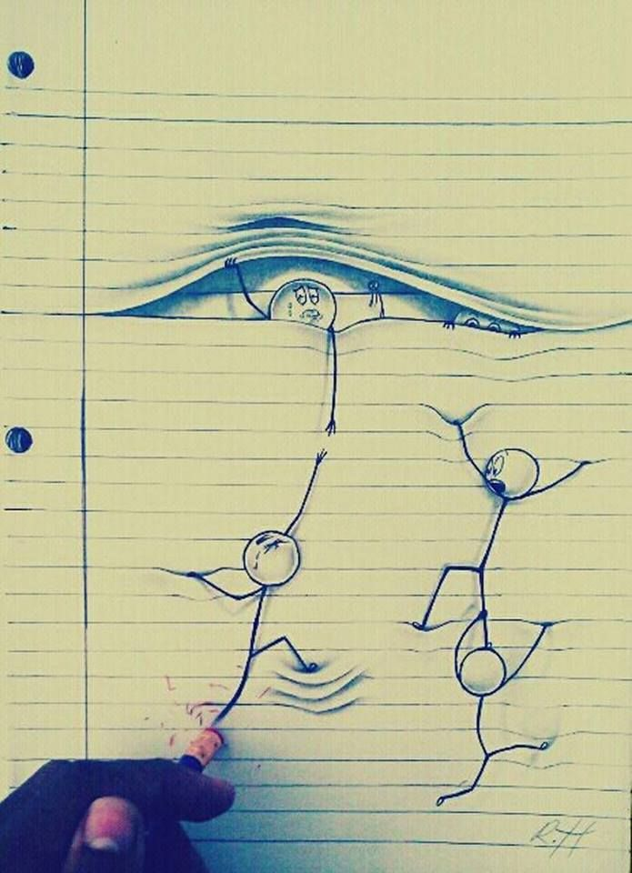 Drawn optical illusion figure drawing Drawn Illusions Optical Pinterest Hand