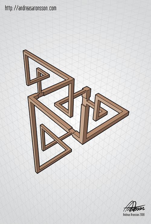 Drawn optical illusion figure drawing Neatorama Illusion  Optical Andreas