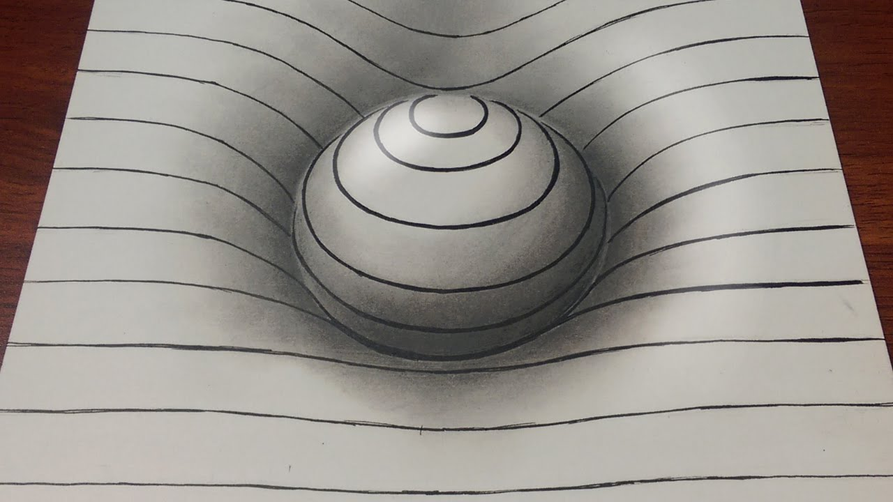 Drawn optical illusion fun easy Sphere Easy YouTube lines 3D