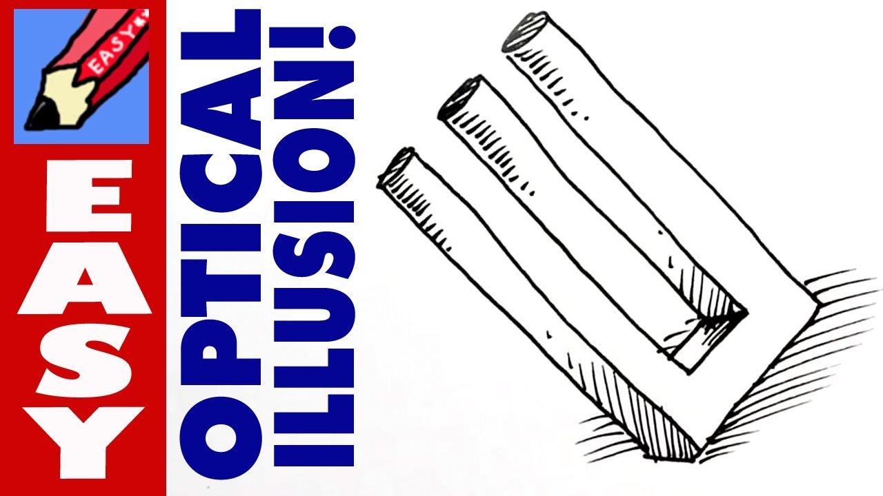 Drawn optical illusion fun easy YouTube 3D draw Easy to