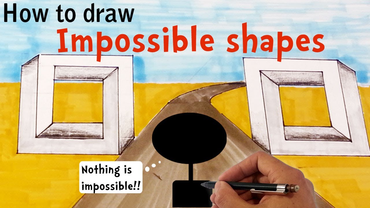 Drawn optical illusion geometric Perspective In Illusions To Draw