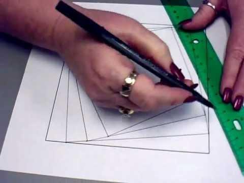 Drawn optical illusion geometric Artwork YouTube Optical Optical Illusion