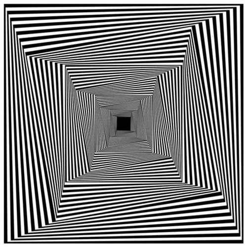 Drawn optical illusion geometric Optical ideas Más illusion Pinterest