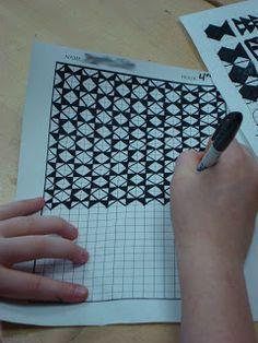 Drawn optical illusion graph paper Grade