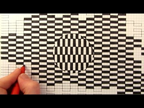Drawn optical illusion graph paper Moving YouTube a Optical How