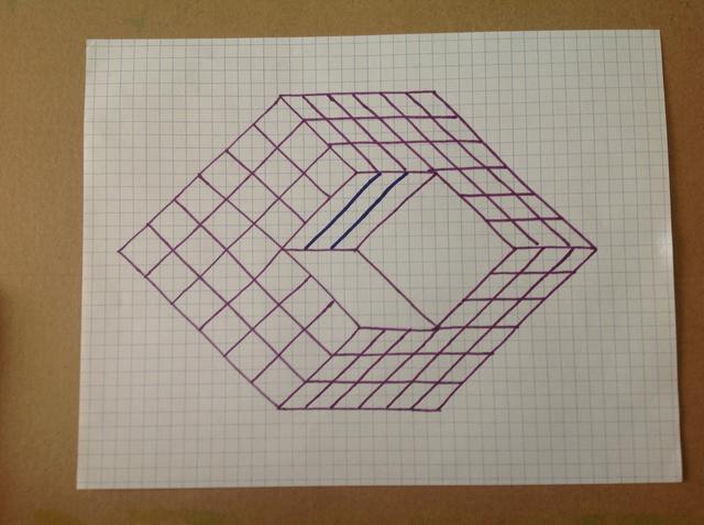 Drawn optical illusion graph paper Still Illusion are grid Snapguide