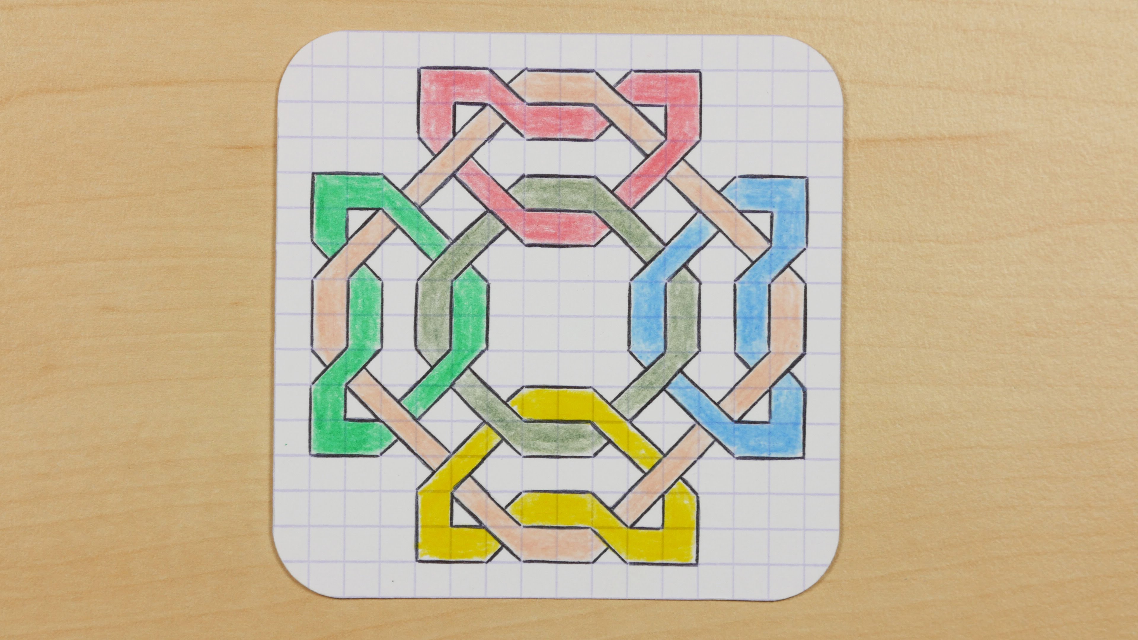 Drawn optical illusion graph paper Graph YouTube Draw Knots Doodle