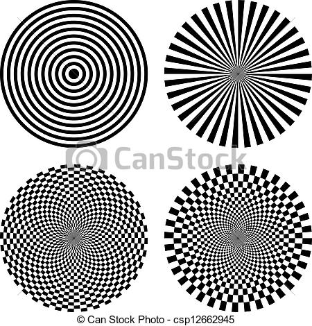 Drawn optical illusion graphic And Black csp12662945 Vector Optical
