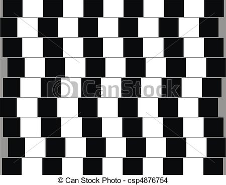 Drawn optical illusion graphic Are Lines optical Drawing Stock
