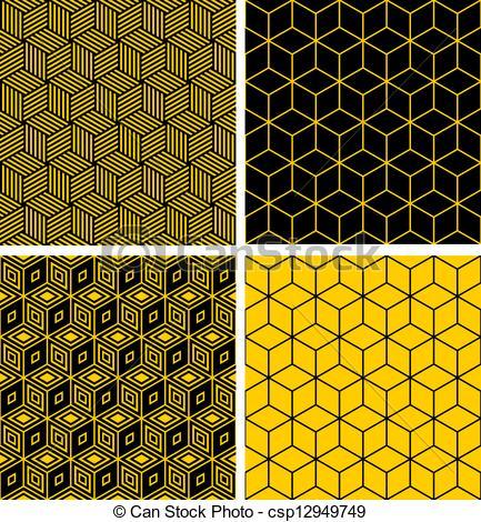 Optical Illusion clipart illustrator Seamless illusion patterns optical of