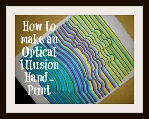 Drawn optical illusion graphic Optical instructions this step this