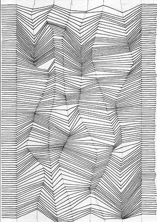 Drawn optical illusion graphic Optical lines lines illusion Drawing
