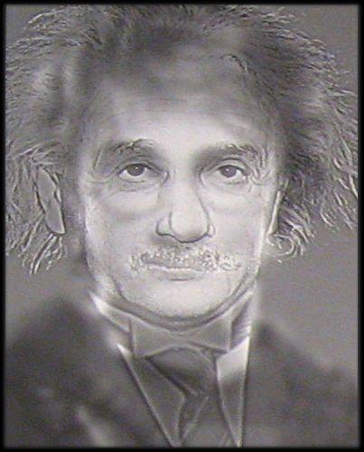 Drawn optical illusion harry potter Einstein Turn Einstein squinting Harry
