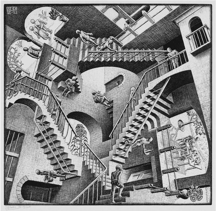 Drawn optical illusion harry potter And Escher's illusions come drawings