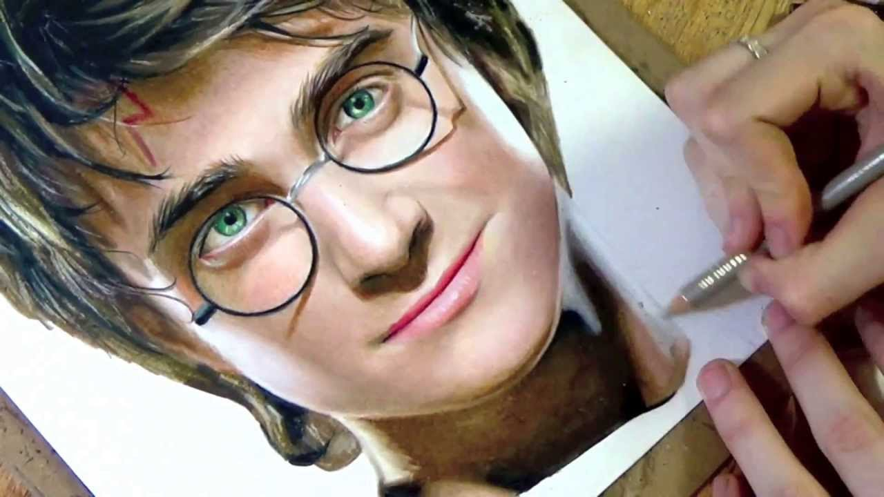 Drawn optical illusion harry potter  harry drawing potter YouTube
