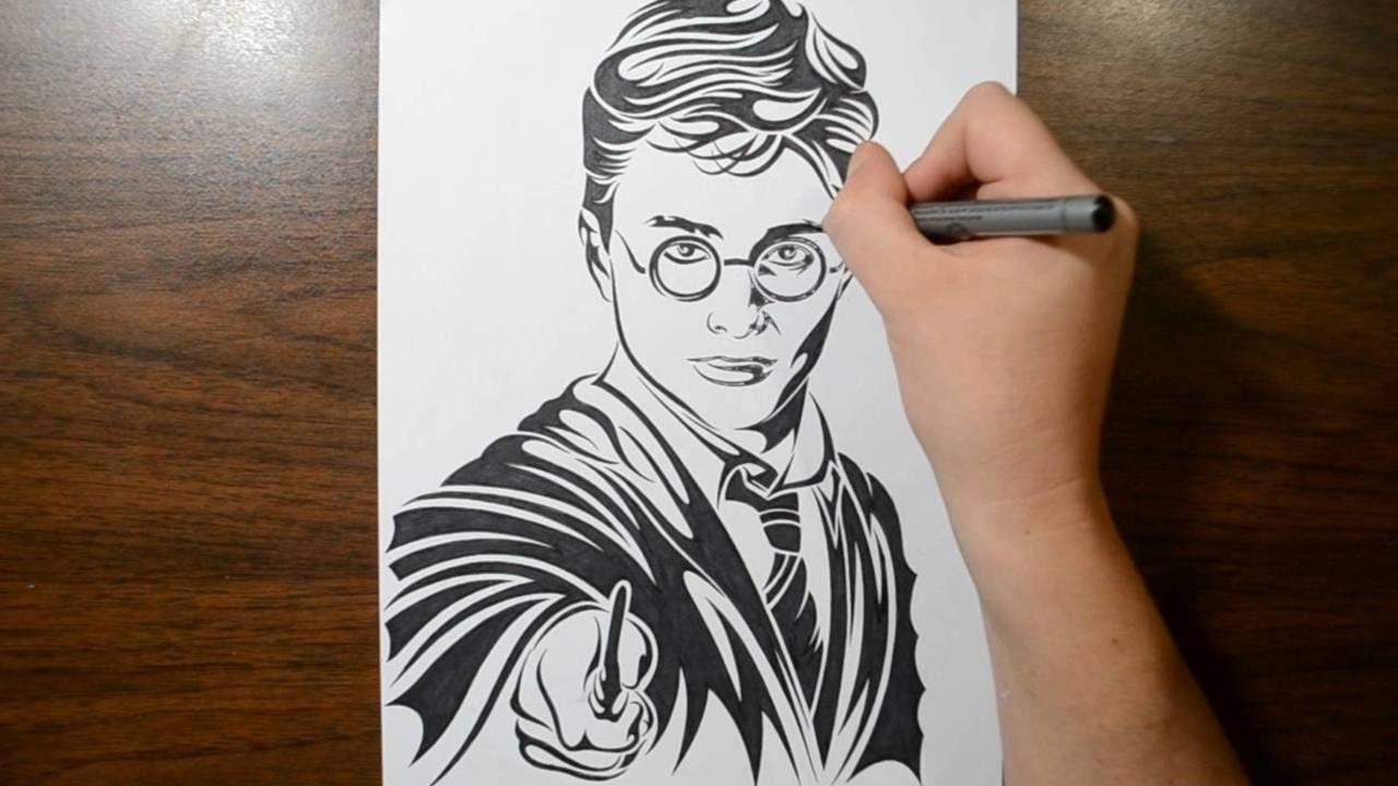 Drawn optical illusion harry potter Style Drawing Potter Tribal Potter