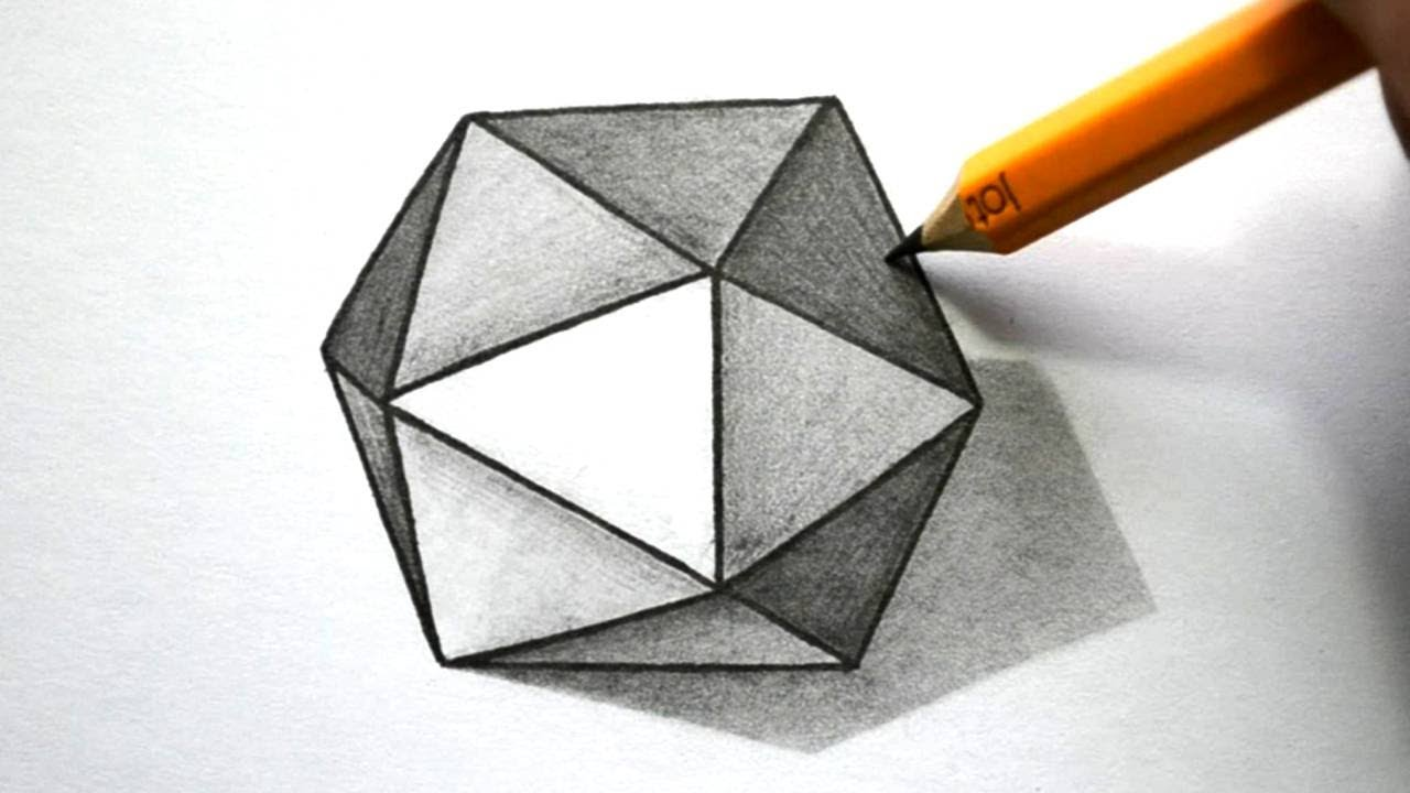 Drawn pyramid impossible Hexagon 3D to  YouTube
