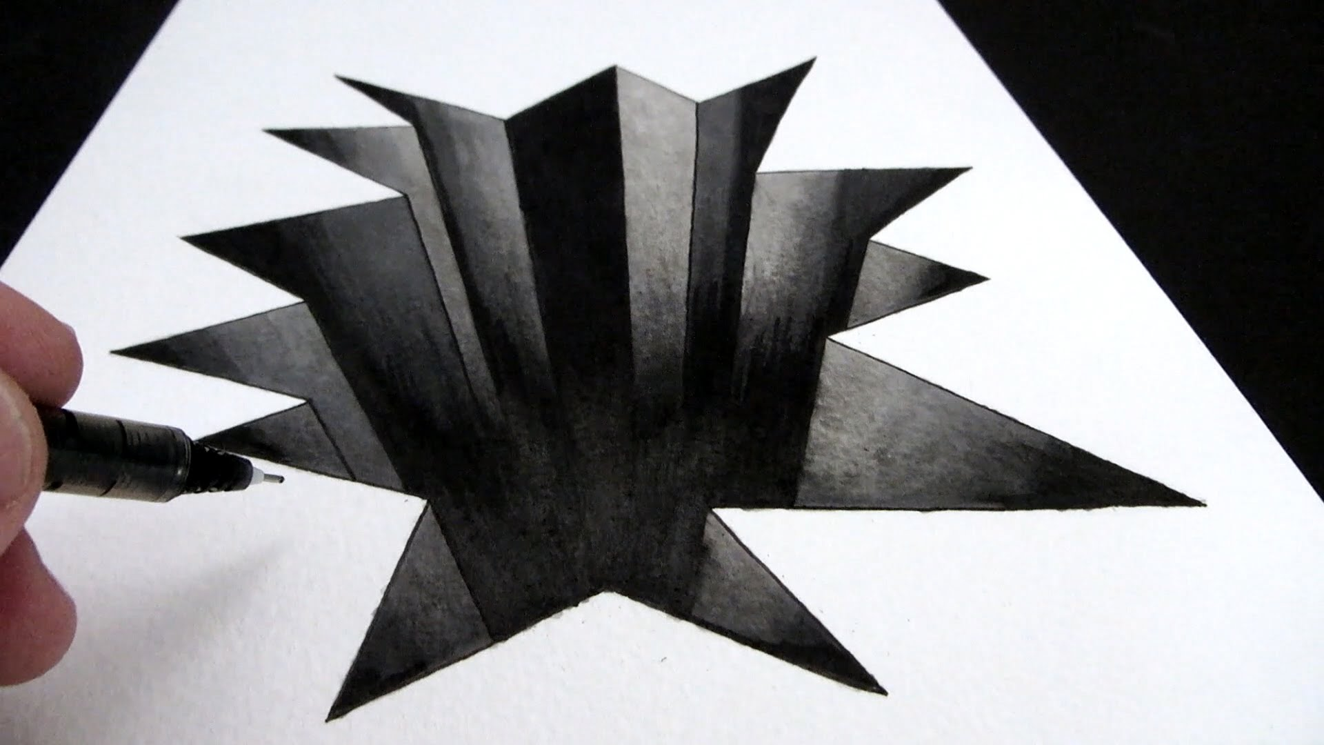 Drawn optical illusion hole Art YouTube How to in