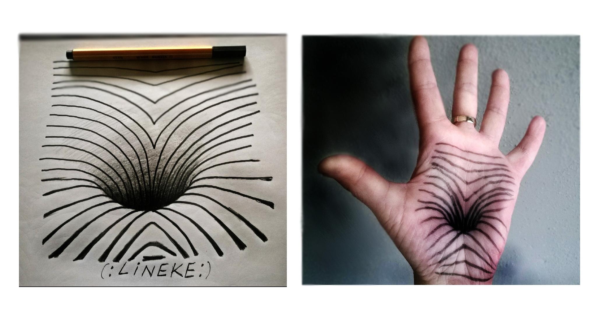 Drawn optical illusion hole On :) in illusion DeviantArt