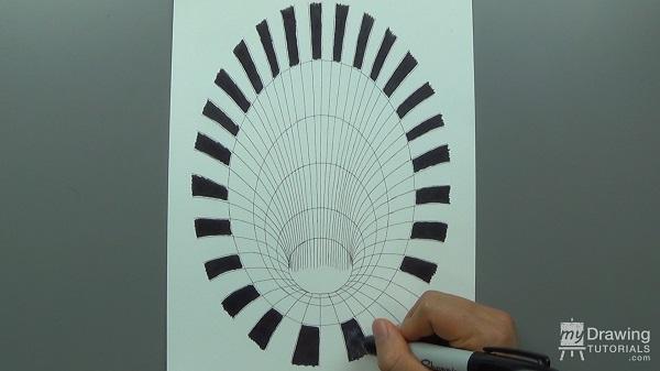 Drawn optical illusion hole Drawing Illusion Hole My Optical