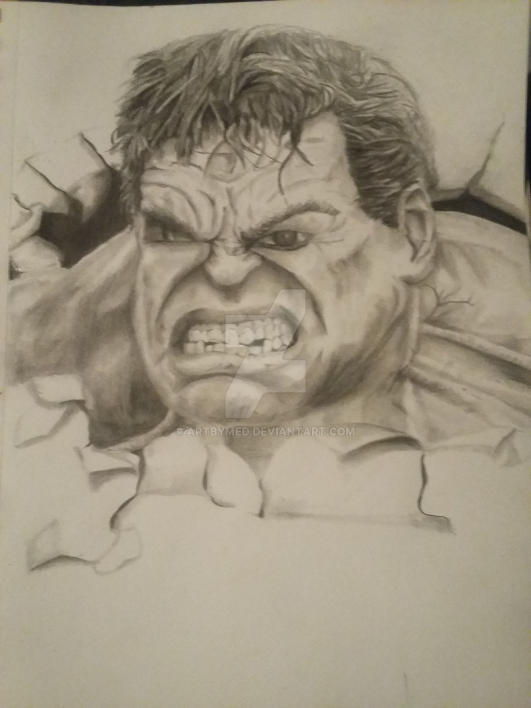 Drawn optical illusion hulk The In of Pencil the