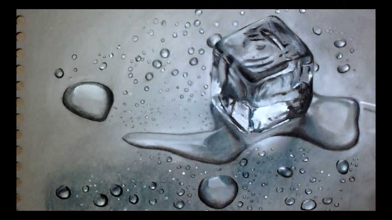 Drawn optical illusion ice 3D YouTube of drawing Realistic