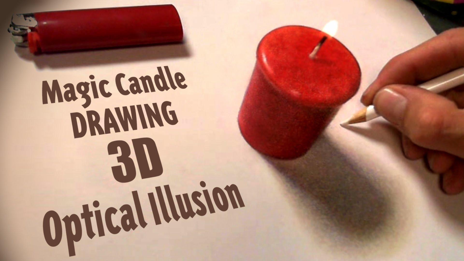 Drawn optical illusion ice A Drawing Magic 3D Art