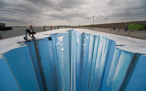 Drawn optical illusion ice By Müller Sidewalk Age Ice