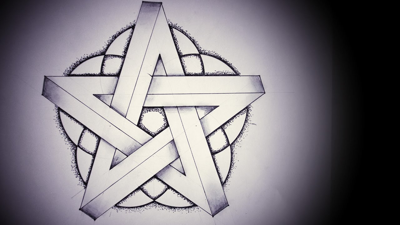 Drawn stars optical illusion Impossible Pentagram Pentagram Draw Impossible
