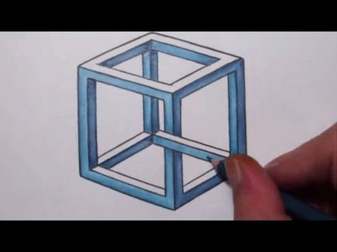 Drawn optical illusion impossible To To Optical Cube Cube