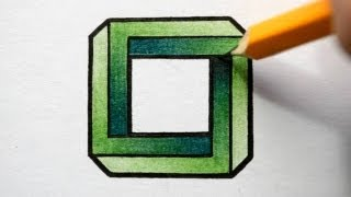 Drawn optical illusion impossible How Impossible to YouTube Square