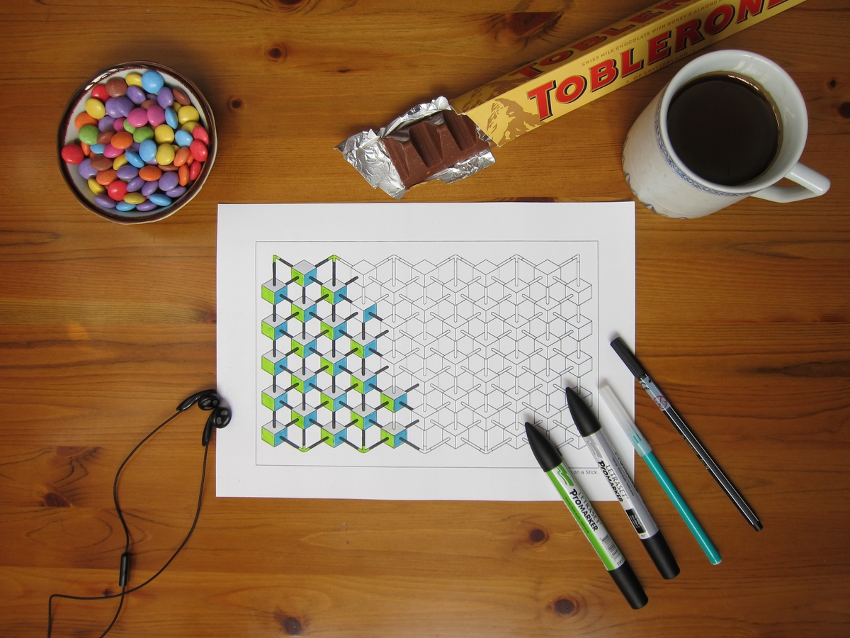 Drawn optical illusion impossible A Relax and Design Optical