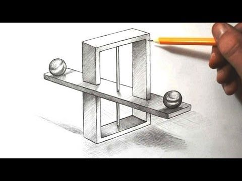 Drawn optical illusion impossible Images to Pinterest on Optical