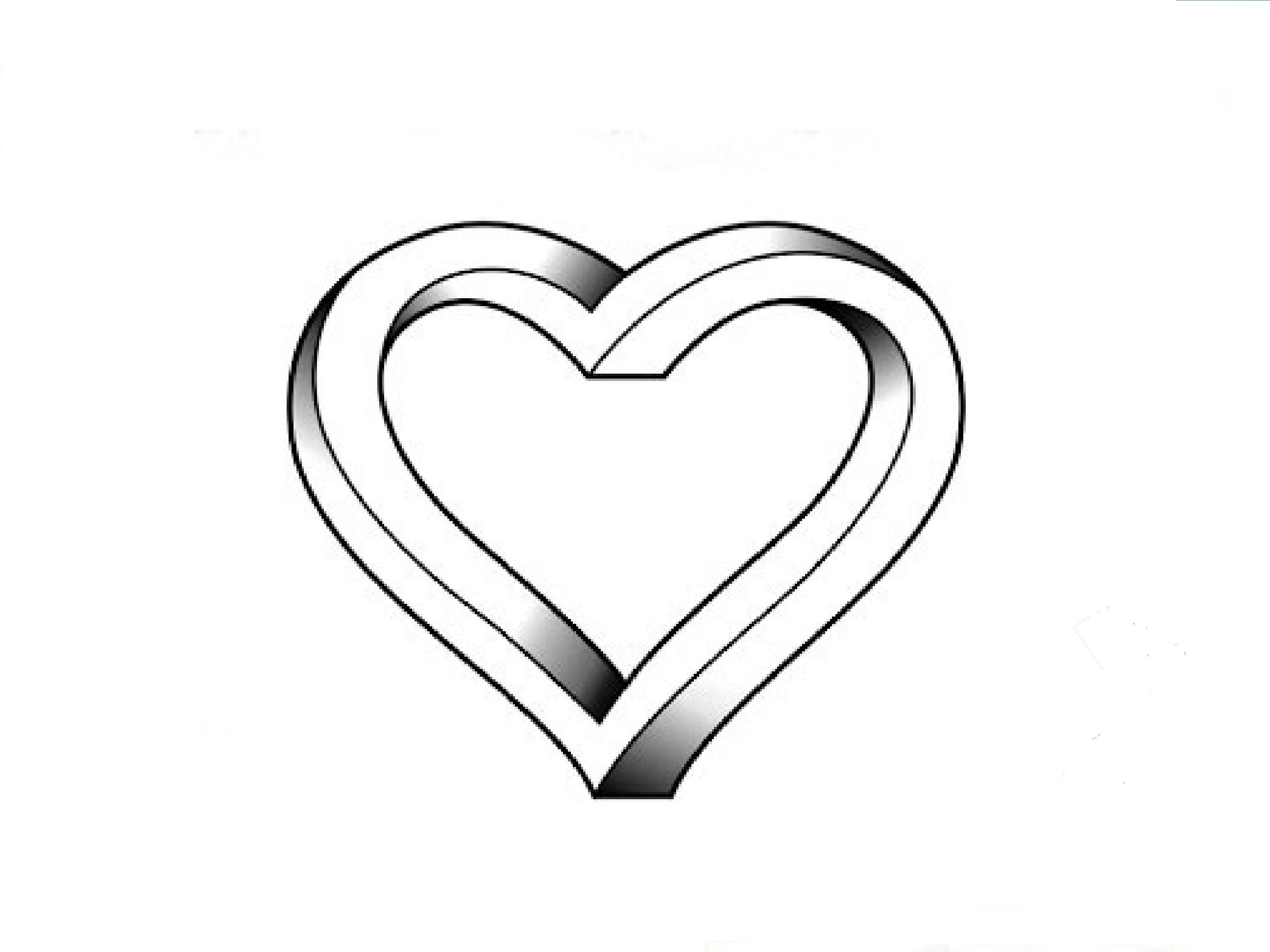 Drawn hearts simple Illusion / an Как Optical