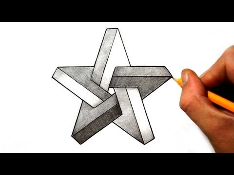 Drawn stars impossible Shapes Optical Shapes  Illusions