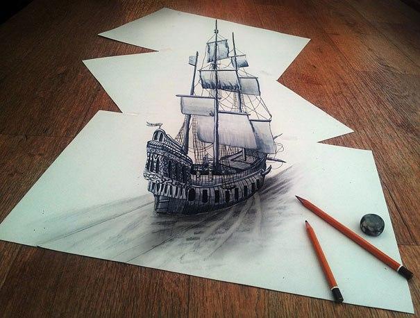 Drawn optical illusion incredible Ramon Incredible ramon Fawn Illusions