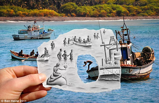 Drawn rock optical illusion Draw has Where incredible