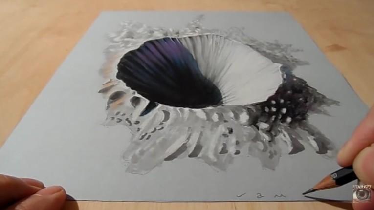 Drawn optical illusion incredible Trends Optical 11187032_1439122059735032_783567006_n VamosArt The
