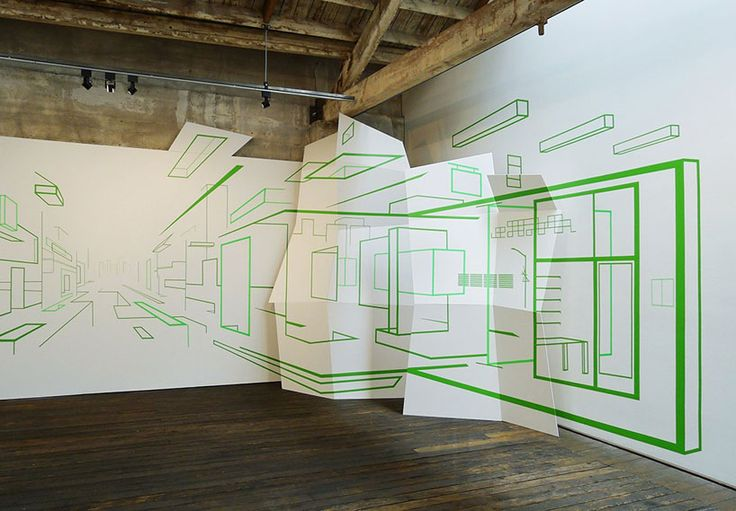 Drawn optical illusion interior design Pinterest by gilley tape art